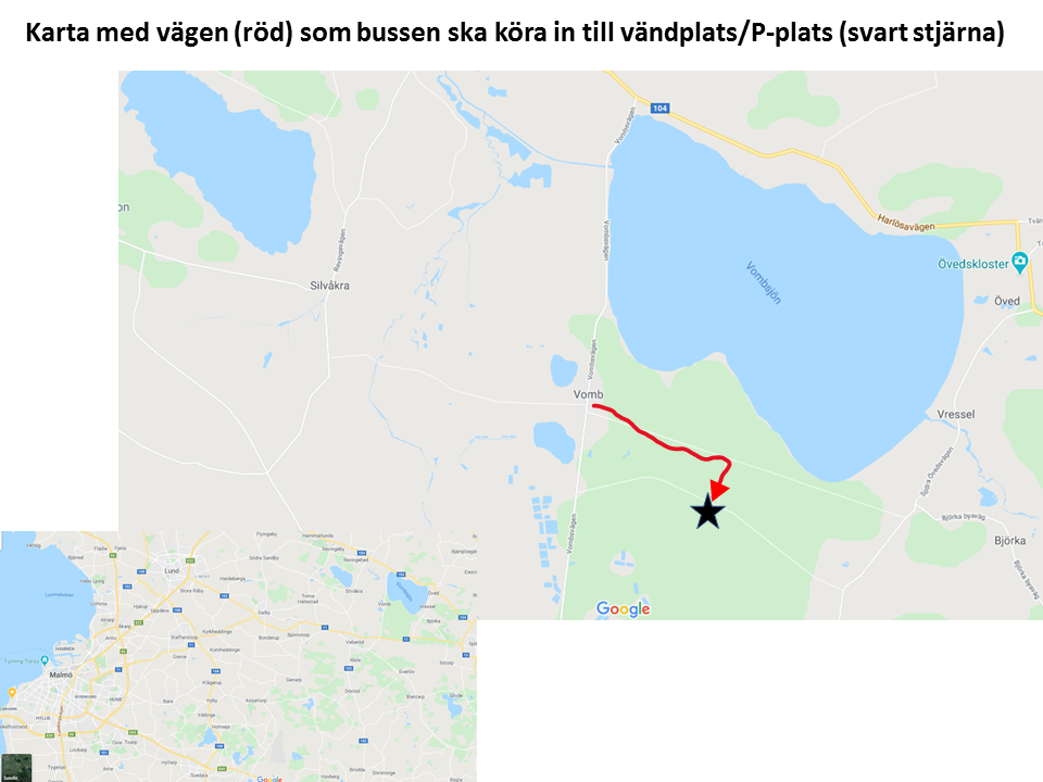 karta över Vomb